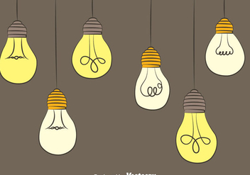 Hanging Light Bulb Vectors - Free vector #423535