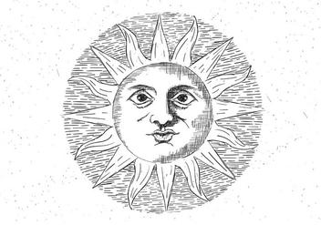 Free Vector Sun Illustration - Free vector #423715