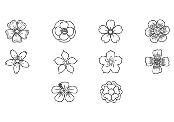 Free Plum Blossom Icon Vector - бесплатный vector #424045