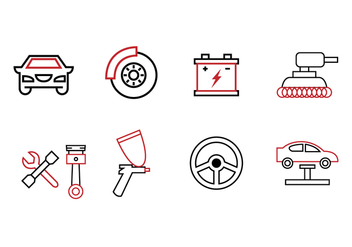Garage Icon Set - vector #424105 gratis
