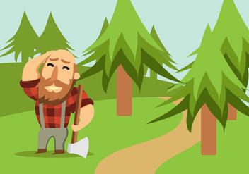 Lumberjack With Axe - Free vector #424165