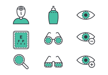 Eye Doctor Linear Icon - Free vector #424185