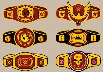 World Championship Belt Vector Pack - Free vector #424295