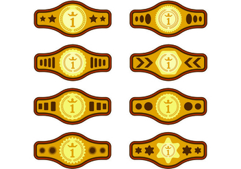 Set Of Championship Belt Vectors - Kostenloses vector #424615