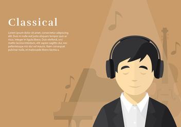 Head Phone Listening Classical Free Vector - Kostenloses vector #424765