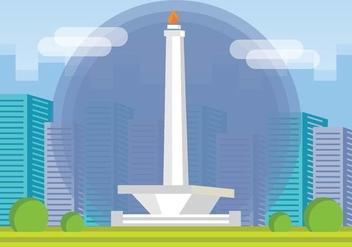 Free Monas Monument Vector - vector gratuit #424885