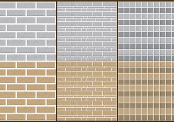 Stone Wall Patterns - vector gratuit #425005