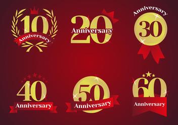 Anniversary Logos Vector - Kostenloses vector #425065