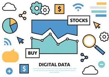 Free Digital Marketing Business Vector Illustration - Free vector #425195