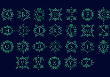 Free Retro Vintage Ornamental Logo Vector - Kostenloses vector #425275