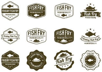 Fish Fry Badge - Kostenloses vector #425295