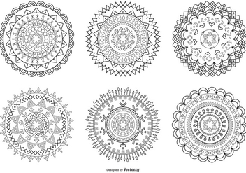 Abstract Flower Shapes - Free vector #425415