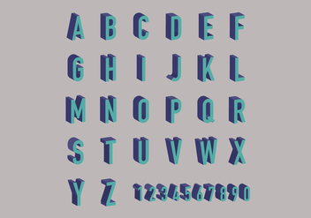 Letras 3D Vector Pack - Free vector #425475