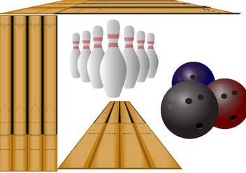 Perspective Bowling Lane Vectors - бесплатный vector #425675
