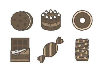 Free Mouthwatering Chocolate Vectors - Free vector #425745