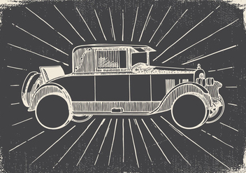 Sketchy Vintage Car Illustration - vector gratuit #425835