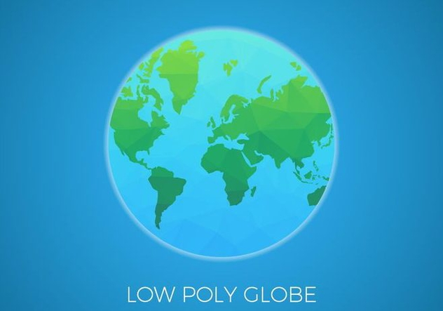 Free Low Poly Background Globe Vector - Free vector #425845