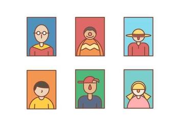 Free Headshot Portrait Vectors - Kostenloses vector #426125