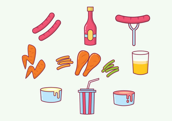 Free Fast Foods Vectors - Kostenloses vector #426175