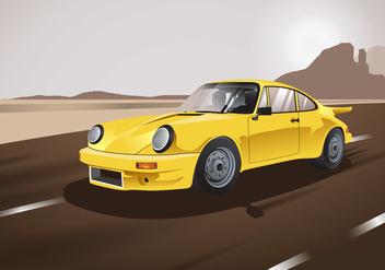 Classic Carros Amarelo Vector - бесплатный vector #426345