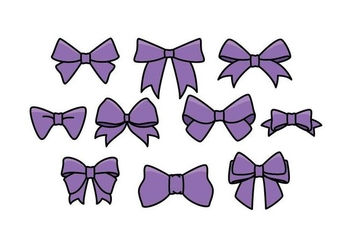 Free Hair Ribbon Vector - Free vector #426655