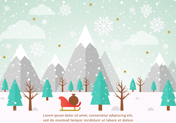 Free Vector Winter Landscape Illustration - Kostenloses vector #426735