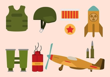 Flat World War Vectors - vector gratuit #426835