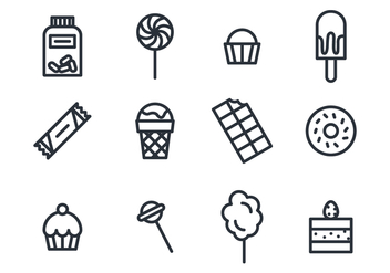 Sweets and Chocolate Icons - vector gratuit #426885
