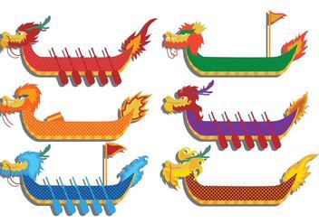 Dragon boat festival vector - Free vector #426895