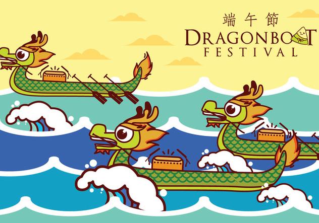 Dragon Boat Illustration - Free vector #426915