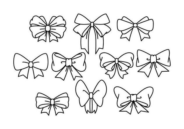 Free Hair Ribbon Vector - vector gratuit #426925