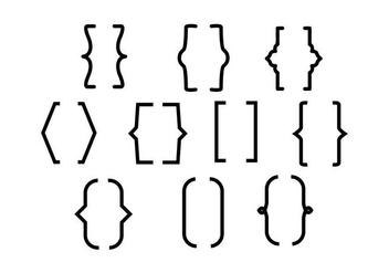 Free Bracket Line Vector - vector #427035 gratis