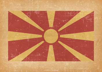 Macedonia Flag on Grunge Background - Free vector #427105