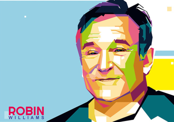 Robin Williams Vector WPAP - Free vector #427245