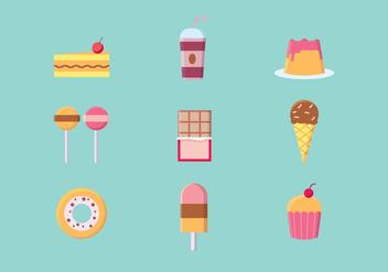 Delicious Dessert Vector - vector #427585 gratis