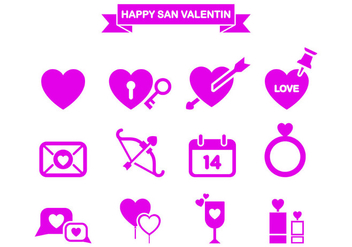 San Valentin Icon Vector Pack - Free vector #427625