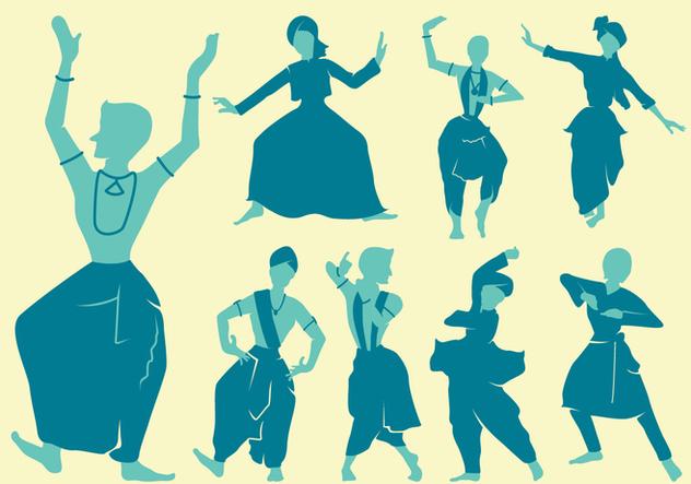 Punjabi Dancers Figures - vector gratuit #427725