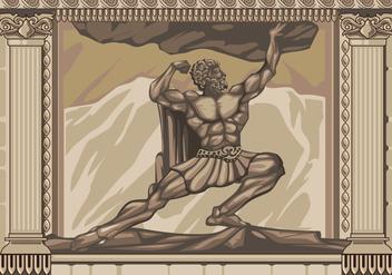 Hercules Statue Facade Vector - Kostenloses vector #427785