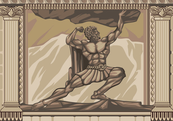 Hercules Statue Facade Vector - vector #427785 gratis