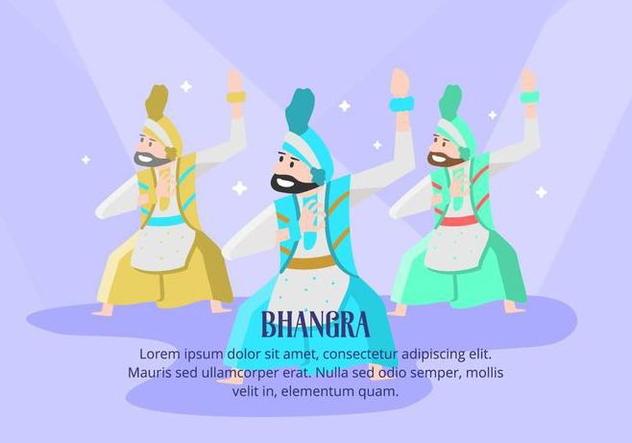 Bhangra Background - vector gratuit #427795