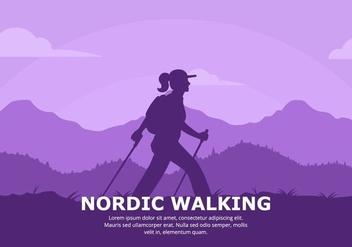 Nordic Walking Background - бесплатный vector #428085
