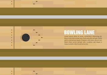 Bowling Lane Vector - Kostenloses vector #428115
