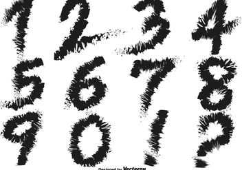 Grungy Handwritten Number Vectors - Free vector #428195