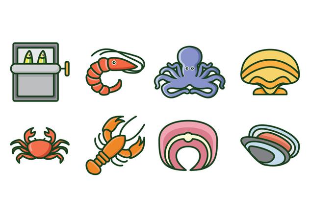Free Seafood Icons - бесплатный vector #428235