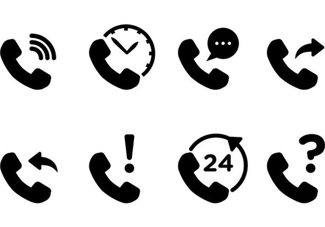 Free Tel Icons Vector - бесплатный vector #428255