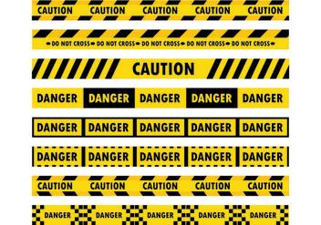 Danger Tape Vectors - Free vector #428305