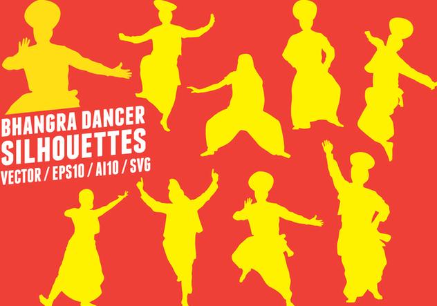 Bhangra Dancers Silhouettes - бесплатный vector #428335