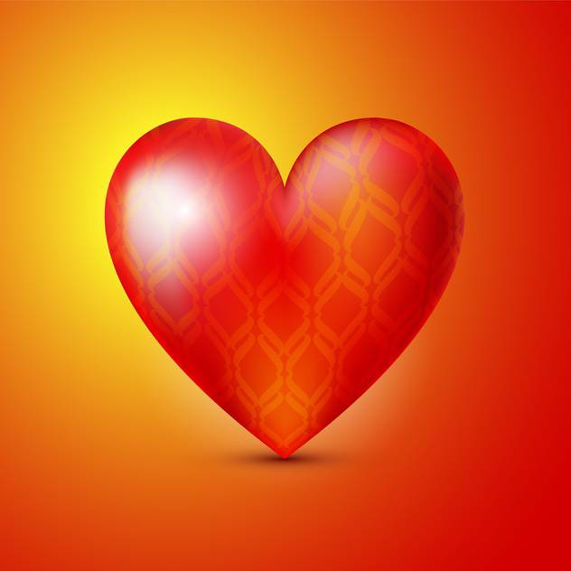 Vector illustration of colorful valentine card background with big red heart - vector gratuit #125785