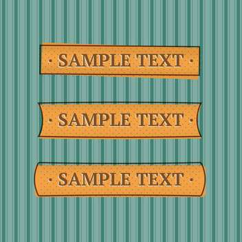 Vector illustration of blue striped background with place for text - vector #125815 gratis