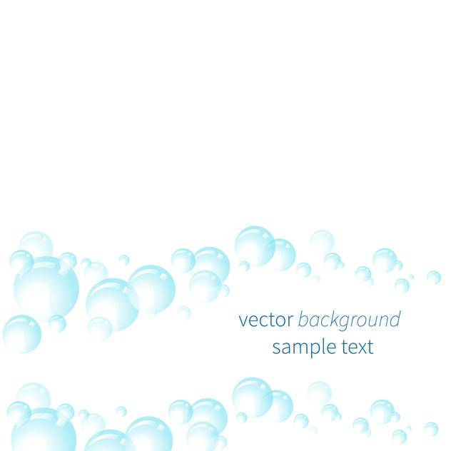 Vector illustration of white background with blue bubbles - vector gratuit #125975